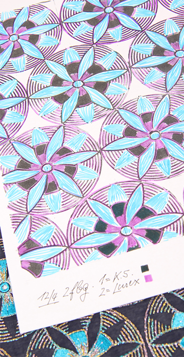 HeDee Design: colourful sketch of a new embroidery design